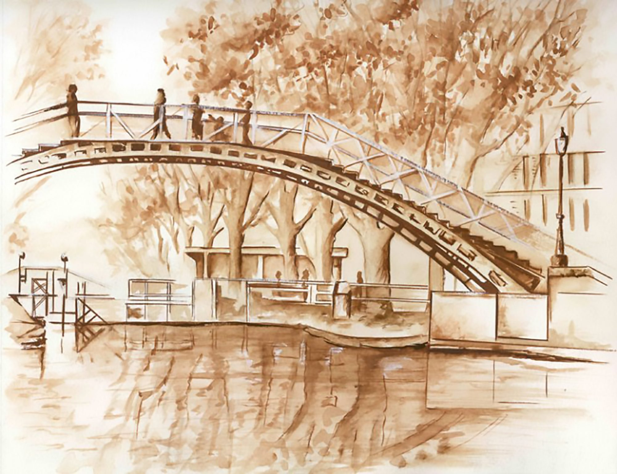 Illustration pont canal Paris